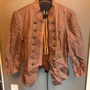 Maurice's jacket - tan - size small